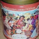 Vintage Trails End Popcorn Caramel Corn American Indian Theme Advertising Tin