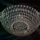 VINTAGE Mid-Century Era Clear Pattern Glass Tab Handle Berry Salad Cereal Bowl