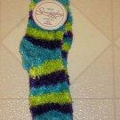 BRAND NEW Ladies Sz 9-11 Blue Purple Green Slipper Socks Fit Shoe 4-10