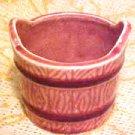 Norcrest Japan Porcelain Pink Pottery Bucket Pail Shaped Planter Pot Flowerpot