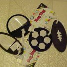 FUN BRAND NEW FOOTBALL SOCCER  LUGGAGE BAG TAG Helps You  Locate Suitcase Fast