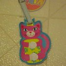 FUN BRAND NEW VINYL KITTY CAT KITTEN LUGGAGE TAG HELPS LOCATE SUITCASE FAST