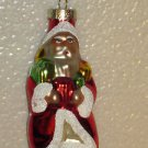 New Hand Painted Blown Glass Glitter Santa Claus Christment Tree Ornament