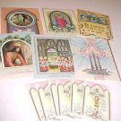 LOVELY VINTAGE 1950S SET UNUSED BRAND NEW RELIGIOUS EASTER CARDS