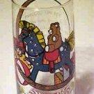 VINTAGE Toyland Christmas Pepsi Cola Fast Food Advertising Promo Cartoon Glass