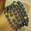 BRAND NEW TURQUOISE BLUE GLASS BEAD WRAP BRACELET