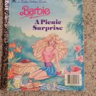 Little Golden Book Barbie A Picnic Surprise 1990 Leslie McGuire  Ken Skipper LGB