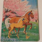 Puzzle Saalfield Horse Pony Cherr Tree Frame Tray Blossoms Parents Magazine