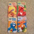 Learning Board Books New Set of 4 Sesame Street Elmo & Friends Zoo Bed Bath Body