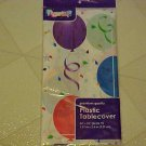 "New Plastic Tablecloth Balloons 54"" X 96"" Table Cover Birthday Party Supplies"
