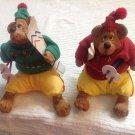 Set 2 Russ Berrie Kathleen Kelly Critter Factory Country Folks Mogul Ski Bears