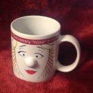 White Ceramic Coffee Tea Mug Cup This Secretary Nose It All 3D Ladies Face