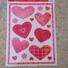 New Static Window Clings Set 16 Pink Red Hearts Valentine's Day Love Romance