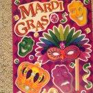 Brand New Mardi Gras Purple Green Masks Crown Jewels Static Window Clings