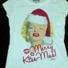 New T-Shirt Hollywood Legends Marilyn Monroe Sz S 3-5 Christmas Merry Kiss-mas