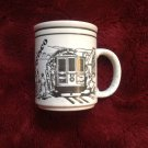 White Ceramic Coffee Tea Mug San Francisco Cable Car 1987 Golden Gate Bridge