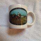 White Ceramic Coffee Tea Mug Ralph Lauren Polo Game Players Horses Advertising