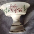 Pedestal Soap Dish Bath & Body Works Christmas Holly Porcelain Candy Compote