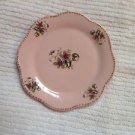 "Pink Porcelain 5"" Wall Plate Decorated with Purple Violets Decorative"