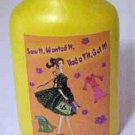 Brand New 1950's Mid-Century Theme Saw Wanted Bought It Yellow Porcelain Vase
