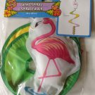 "New Wind Spiral Pink Flamingo Tropical Luau Patio BBQ Home Decor 39"" Garden"