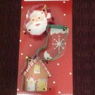 New Set of 3 Cookie Cutters Christmas Santa Claus Stocking Gingerbread House