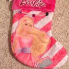 New Christmas My Fab Stocking Mattel Barbie Pink Velour Faux Jewels Princess