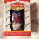 Advertising Budweiser Beer Clydesdales Capitol Bldg Christmas Stein 2001 Barware