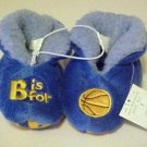 New Childrens Child Sz 4 Plush Blue Warm Bedroom Slippers Shoes Basketball Gift