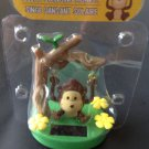 New Brown Monkey On a Tree Swing Swinging Swings Back & Forth Solar Sun Powered