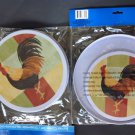 New Set 4 Stove Burner Covers 2 Each Large Small Rooster Pattern Country Kitchen