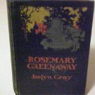 1919 Antique Hardcover Book Novel Rosemary Greenaway by Author Joslyn Gray