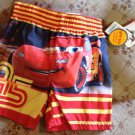 Swim Trunks Shorts Size 12 Month Disney Cars Team 95 UPF 50+ Infant New