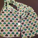 Brand New Unisex St. Patrick's Day White Green Irish Heart Hearts Neck Scarf