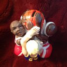 Porcelain Fitz & Floyd Gift Gallary Basketball Teams Fight for the Ball Bank