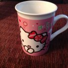 Coffee Tea Mug Hello Kitty 2012 White Pink Red Black Sanrio Free Shipping 6 oz