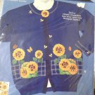 Dimensions FashionArt Craft Kit 80082 No Sew Applique Sunny Sunflowers 1993