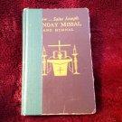 New Saint St Joseph Sunday Missal Hymnal 1966 HC Catholic Book & Prayer Card