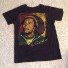 Bob Marley Get Up Stand Up Black Tee T-Shirt Size Medium Jamaica Freedom Fight