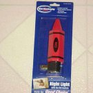 New Red Crayon Marker Shape Figural Night Light Child Safety Security in Dark