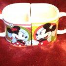 Coffee Tea Mug Set Disney Mickey & Minnie Mouse Hugging Hugs 2011 Porcelain