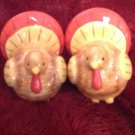 Salt & Pepper Shakers Thanksgiving Turkey Bird Figural Tableware Porcelain