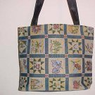 NEW Colony One Zippered Lined Patchwork Pattern Tapestry Purse Handbag Tote Bag