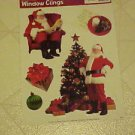 New Vinyl Static Window Clings Christmas Santa Claus Set 5 Holiday Decals