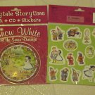 BRAND NEW SNOW WHITE FAIRYTALE STORYTIME BOOK CD AND STICKERS