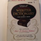 Vintage Little & Ives Webster Dictionary Add A Section 1 AB 3 Ring Binder Ed