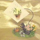 New Recipe Card Note Holder Bird House & Flowers Kitchen Gadget Desk Accessory