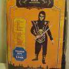 Halloween Play Costume New Skull Lord Ninja Fighter Boys Small 4-6X Warrior War