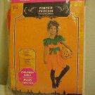 Halloween Costume New Girls Plus Size 10/12 Slimming Orange Pumpkin Princess