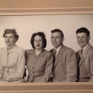 Vintage Real Photograph Photo Young Adults 2 Couples Women Men 1940s
